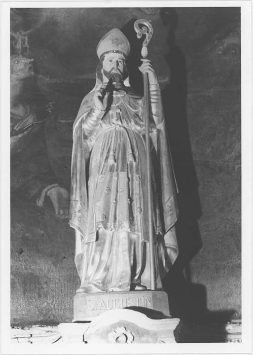 Statue (petite nature) : saint Augustin