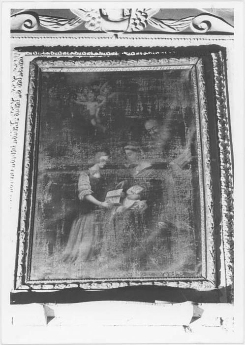 Tableau et son cadre : Education de la Vierge