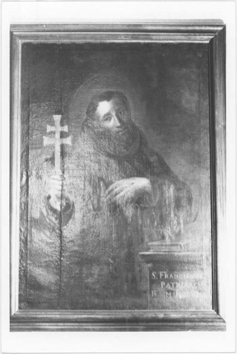 tableau et son cadre : Saint François d'Assise, vue générale