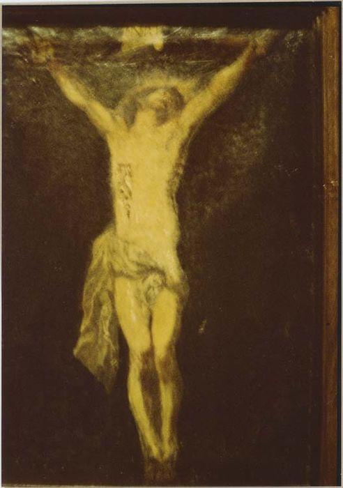 tableau : le Christ en croix, vue générale
