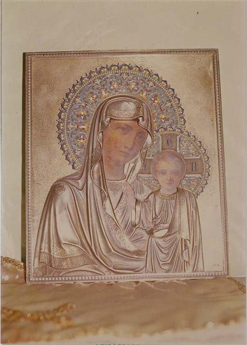 tableau : icône de la Vierge à l'Enfant, vue générale