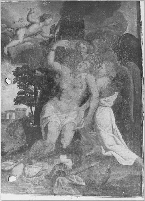 tableau : le Martyre de saint Sébastien, vue générale