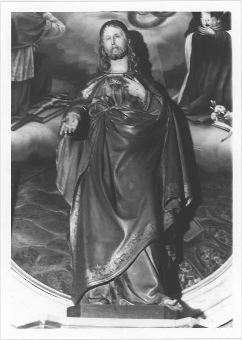 Statue (petite nature) : Jésus au Sacré Coeur, vue générale