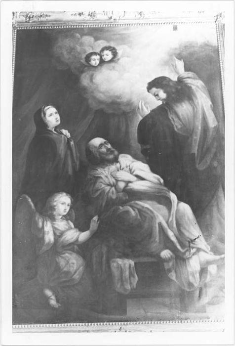 tableau, cadre : La Mort de Saint Joseph, vue générale