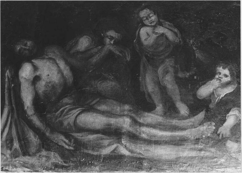 tableau : le Christ mort pleuré par les anges, vue générale