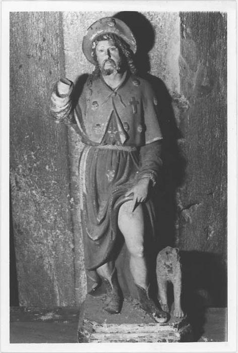 statue (demi-nature) : saint Roch, vue générale
