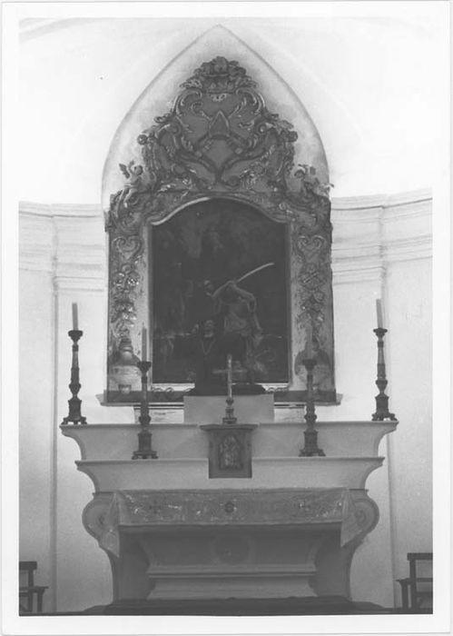maître-autel , gradins d'autel et tabernacle, vue générale