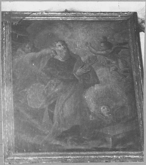 Tableau et son cadre : saint ermite
