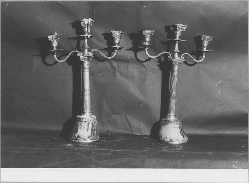 Paire de chandeliers de la confrérie de Saint-Eloi