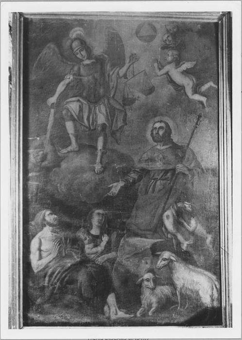 Tableau ex-voto : saint Roch, saint Michel et les bergers de Tende