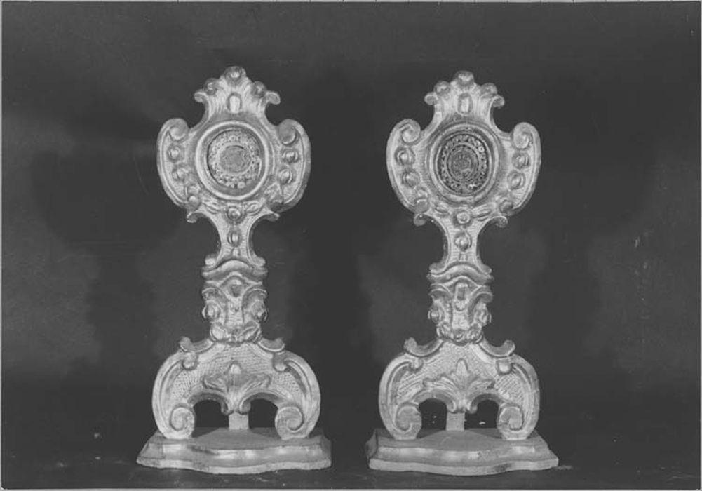 2 reliquaires-monstrances : saint Roch et saint Michel
