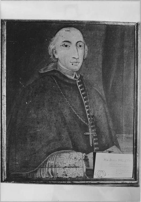 Tableau et son cadre : portrait de Monseigneur Palletis, évêque de Nice (1644-1658)