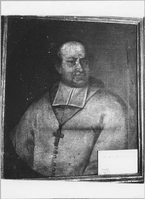 Tableau et son cadre : portrait de Monseigneur Provana de Leyni, évêque de Nice (1671-1706)
