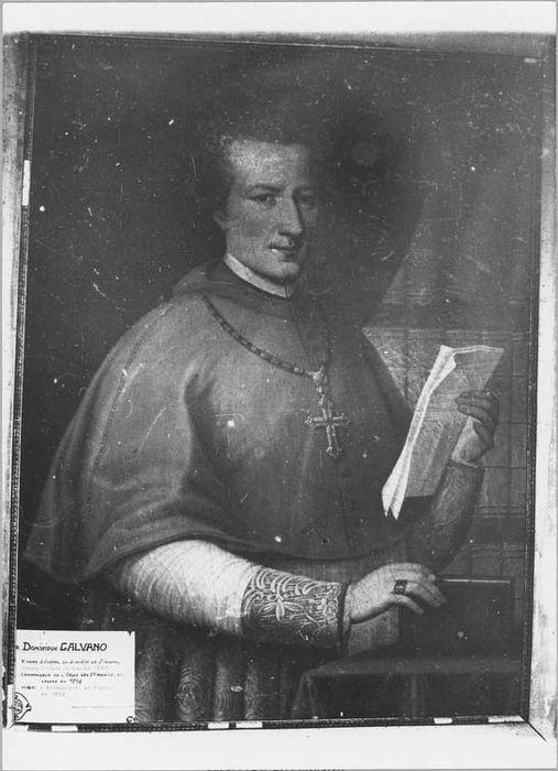 Tableau et son cadre : portrait de Monseigneur Colonna d'Istria, évêque de Nice (1801-1833)