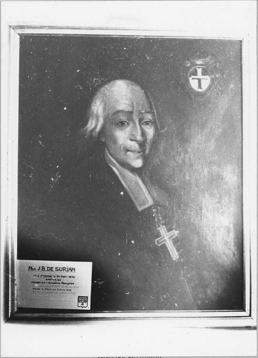 Tableau et son cadre : portrait de Monseigneur de Surian, évêque de Vence (1737-1764)