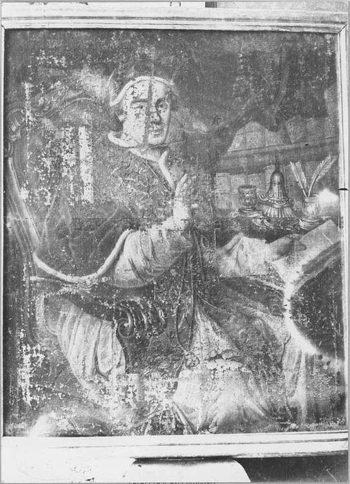 Tableau et son cadre : portrait du pape Eugène IV