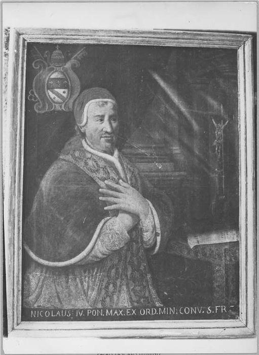 Tableau et son cadre : portrait du pape Nicolas VI