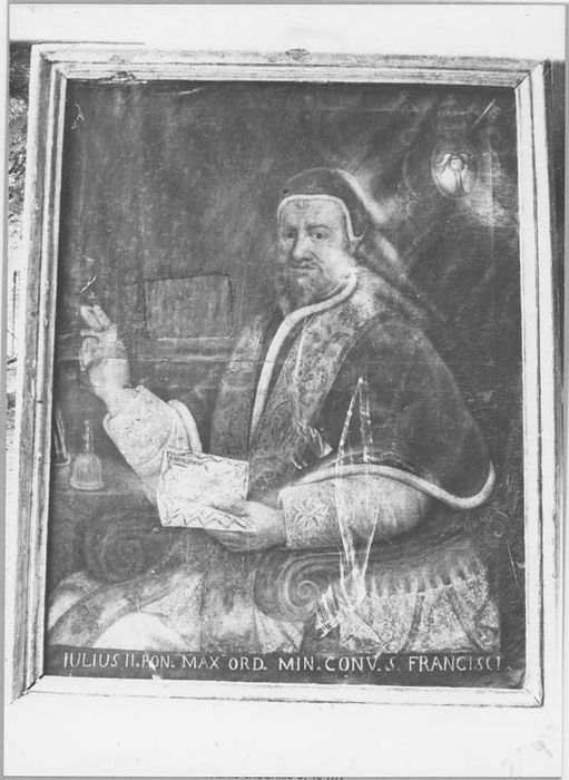 Tableau et son cadre : portrait du pape Jules II