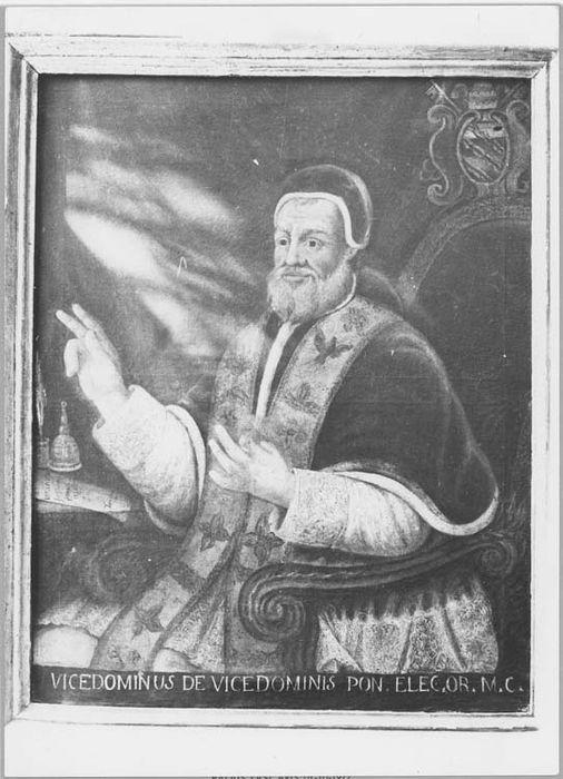 Tableau et son cadre : portrait d'un pape