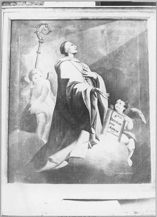 Tableau et son cadre : saint Bernard de Clairvaux