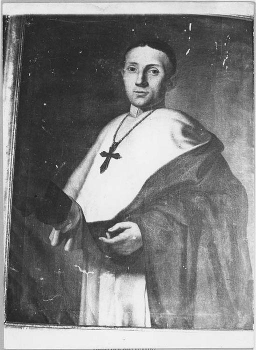 Tableau et son cadre : portrait d'un religieux dominicain