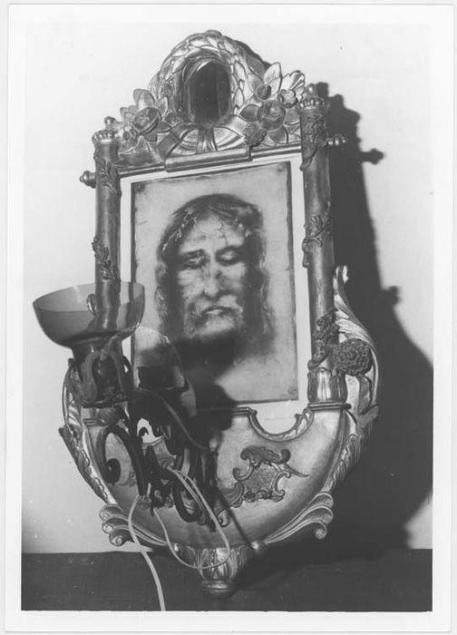 Luminaire d'applique avec cadre et estampe : la sainte Face
