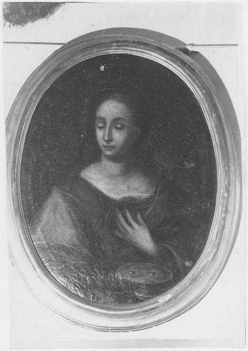 Tableau et son cadre : sainte Lucie