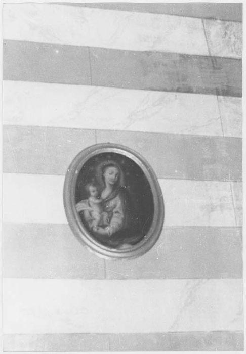 Tableau et son cadre : la Vierge à l'Enfant