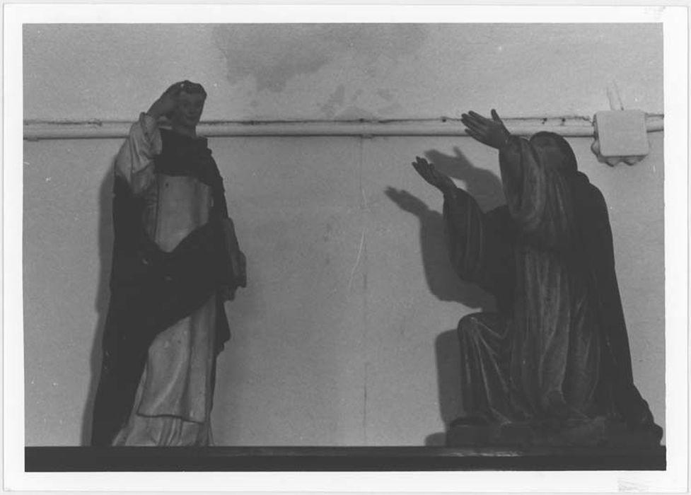 2 statuettes : saint Thomas d'Aquin et saint Dominique