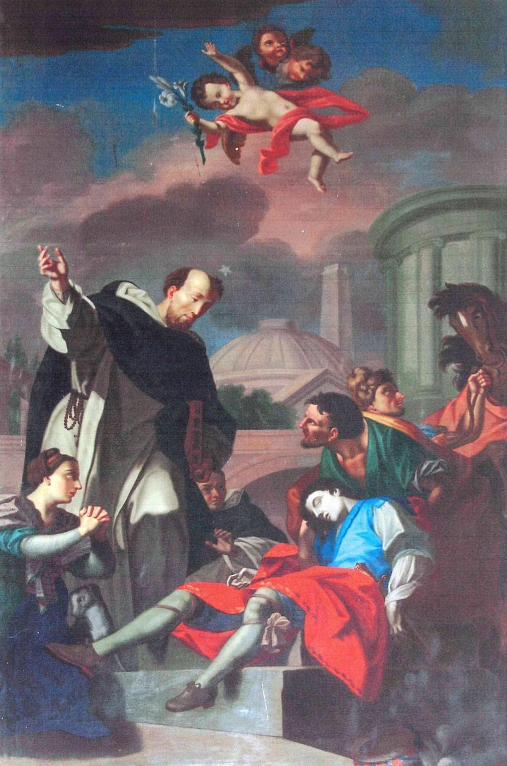 Tableau : saint Dominique ressuscitant Napoléon Orsini