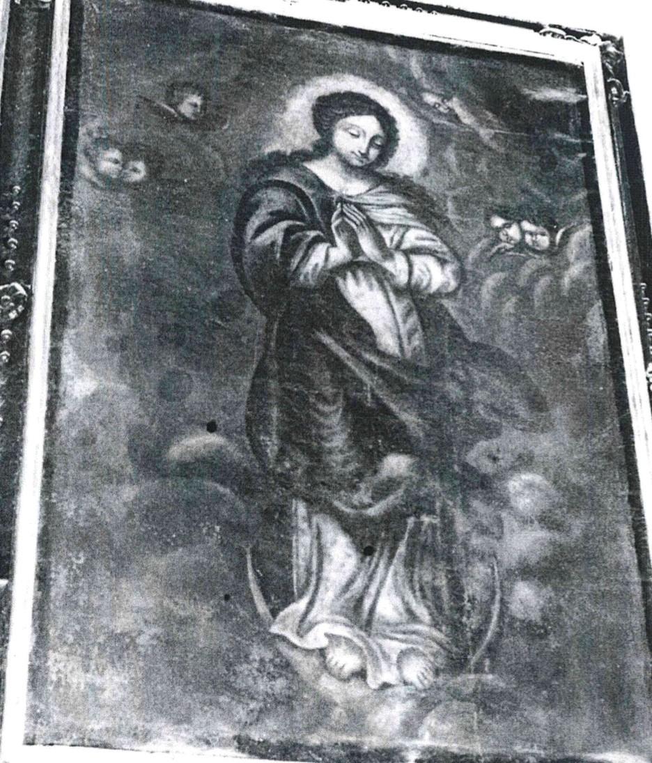 Tableau et son cadre : l'Immaculée Conception