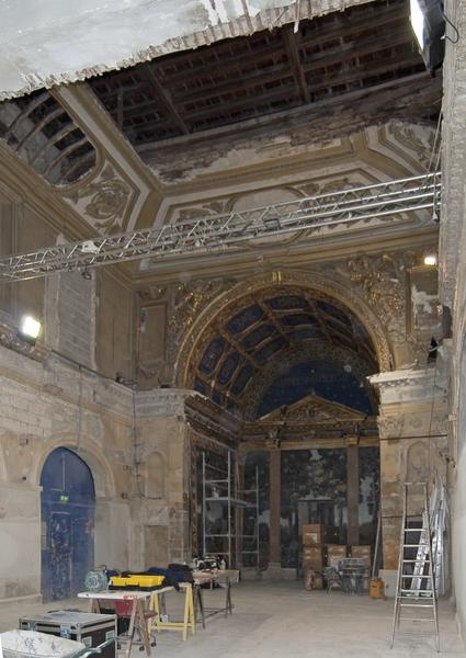 Vue d'ensemble de la chapelle, vers le côté ouest.