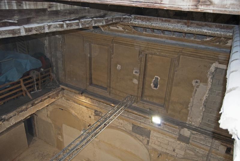 Vue sur la chapelle, prise du niveau du plafond.