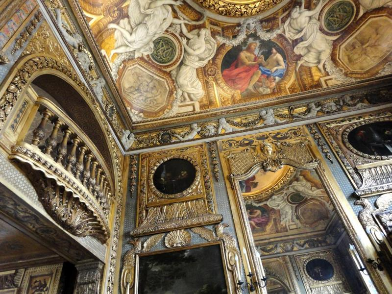Plafond à voussures, angle sud-est, vue des décors peints.