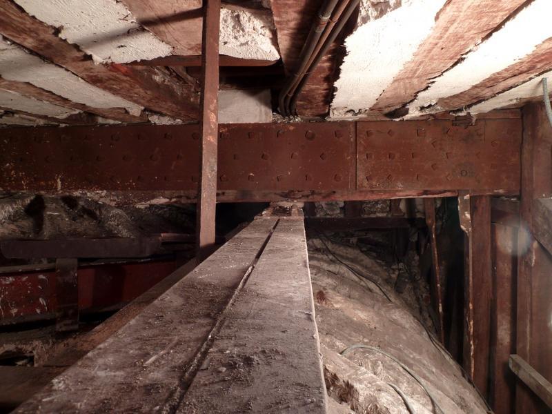 Plafond à voussures, extrados, vue vers l'est.