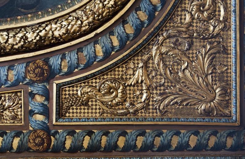 Plafond: détail de la partie d'origine