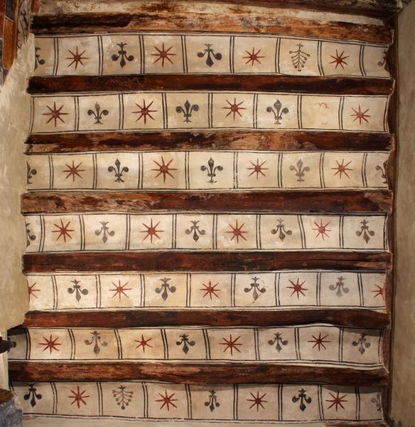 Plafond à entrevous en plâtre  peint; vue générale