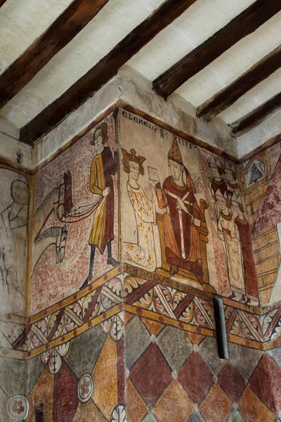 Peinture murale angle nord et plafond à entrevous plâtre