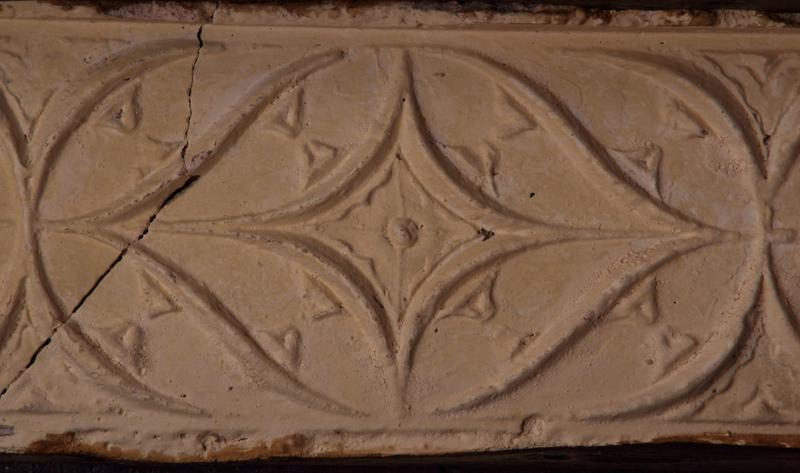 Plafond à entrevous plâtre, premier motif