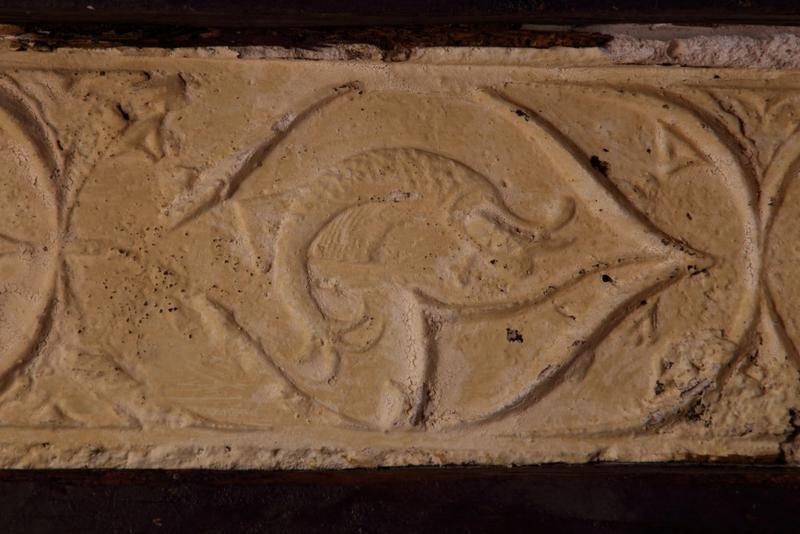 Plafond à entrevous plâtre, deuxième motif