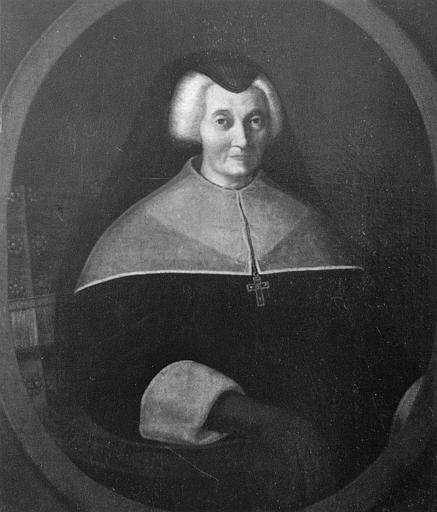 Tableau : 'Portrait de la Maréchale d'Ornano', en buste, assise dans un fauteuil, vêtue de noir, huile sur toile