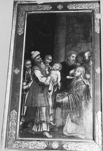 Tableau : 'La présentation de Jésus au Temple', panneau peint