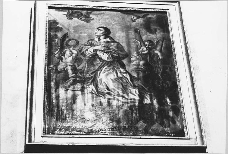 Tableau, cadre : 'Le triomphe de saint Vincent', huile sur toile ; après restauration