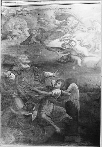 Tableau : 'Le triomphe de saint Andéol', huile sur toile