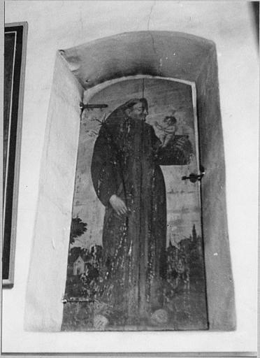 Volet : 'Saint Antoine de Padoue', panneau de bois peint