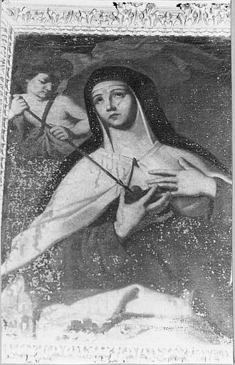 Tableau : 'Sainte Thérèse d'Avila', huile sur toile