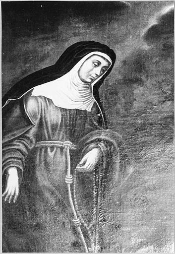 Tableau : 'Sainte Claire d'Assise', huile sur toile