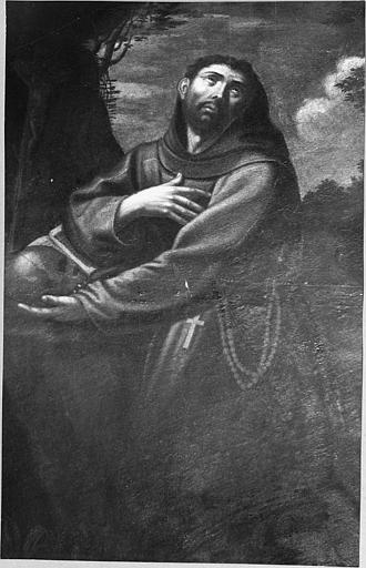 Tableau : 'Saint François d'Assise', huile sur toile
