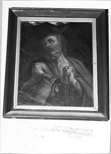 Tableau : 'Saint  Pierre', huile sur toile
