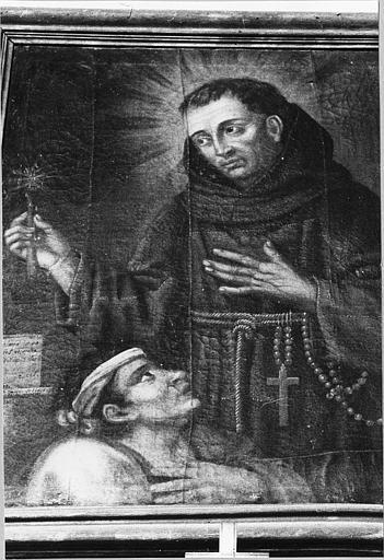 Tableau 'Saint Bernardin de Sienne', huile sur toile